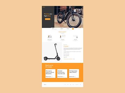 Ebikers Landing Page branding xd daily ui ui design