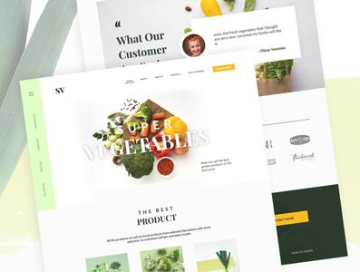Super Vegetables Web Design