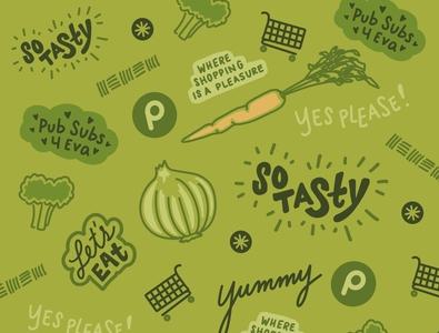 Publix 4eva grocery store branding publix logo branding lettering graphic design lettering art illustration design illustrator illustration art design illustration
