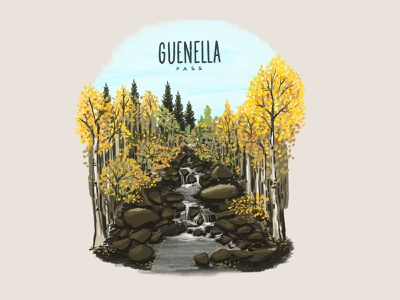 Fallelujah fall colors outdoor illustration guenella pass guenella pass colorado illustrator illustration design illustration art design illustration