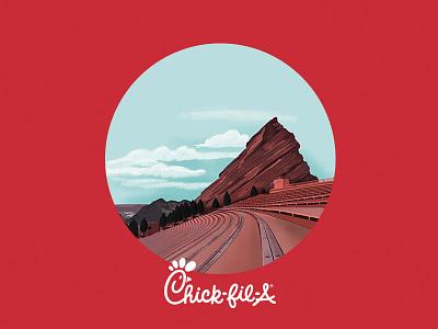 Chick Fil A & Red Rocks Advertisement illustrator illustration design illustration art graphic design design illustration