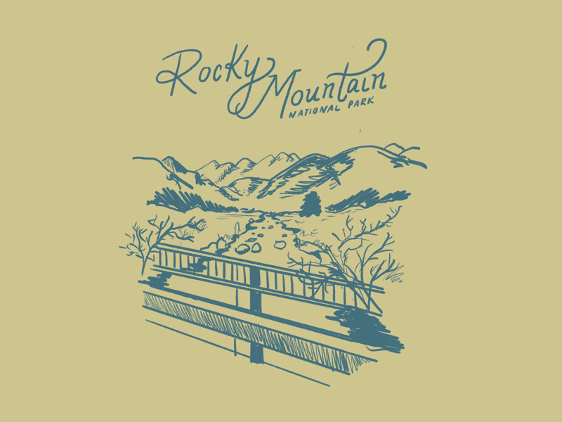 RMNP rocky mountains drawing draw sketching illustration