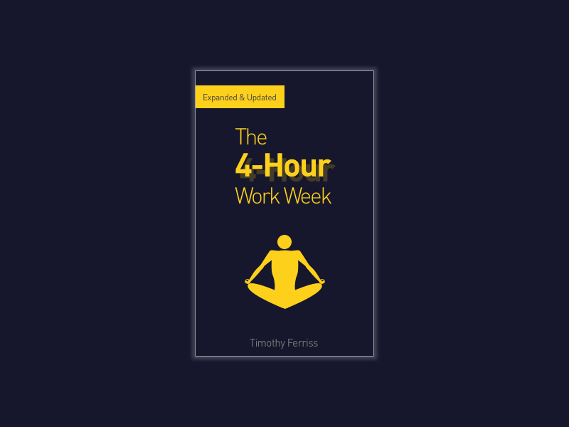 Book Cover - 01 - The 4-Hour Work Week redesign recommendation timothy ferriss book cover books