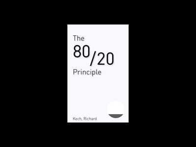 Book Cover - 01 - The 80/20 Principle books book cover 80 20 recommendation redesign