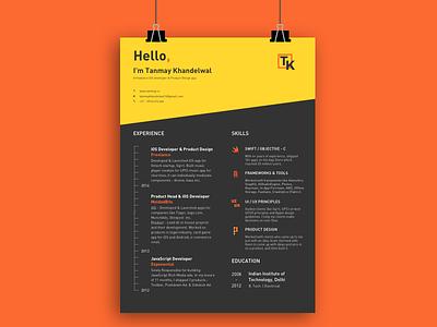 Personal Resume (Curriculum Vitae - CV) resume cv profile freelance developer skills experience education curriculum vitae