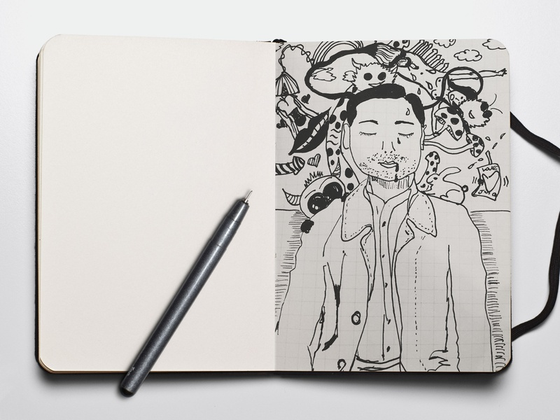 Commuter Dreams - Tokyo, Japan japan pen blackandwhite doodleart drawings design illustration