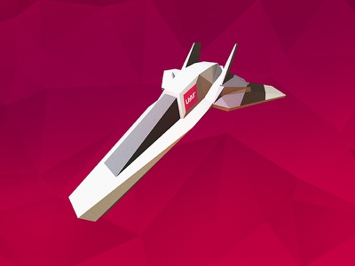 Polygon Space Shuttle geometric work in progress wip plane 3d illustration space shuttle low poly triangle delaunay triangulation polygon