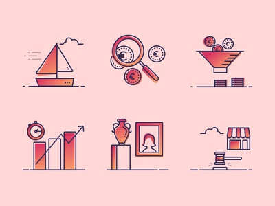 Finance illustration/icon set