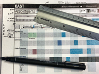 Cast - Booking app design on paper