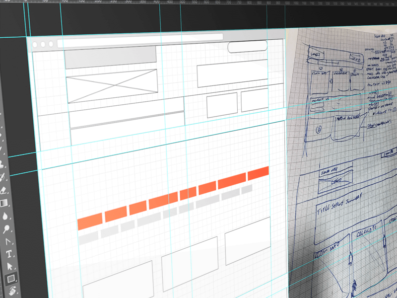 Sketches to Wireframes users user experience research process optimization investigation behaviour wireframe ux ui sketches