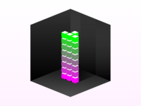Floating Cubes In A Cube