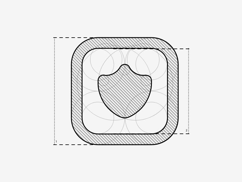 Shield Icon guidelines shield logo iconography icons icon
