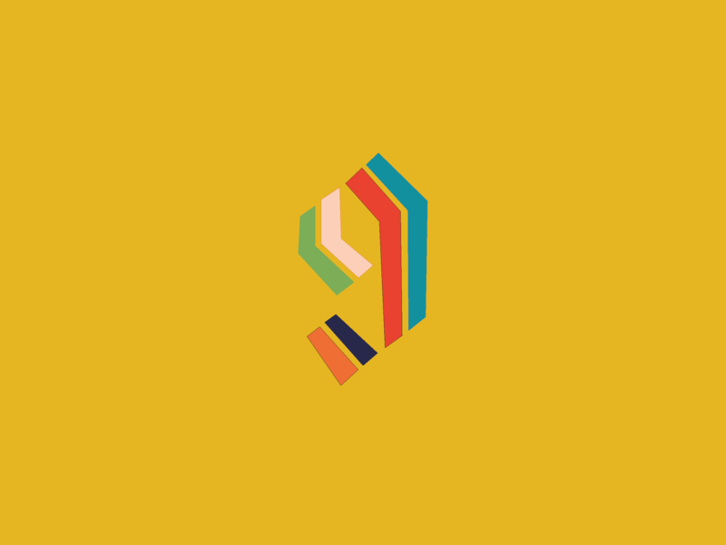 9 website vector art mobile flat type lettering identity web typography logo branding brand icon graphic design clean minimal illustrator illustration design