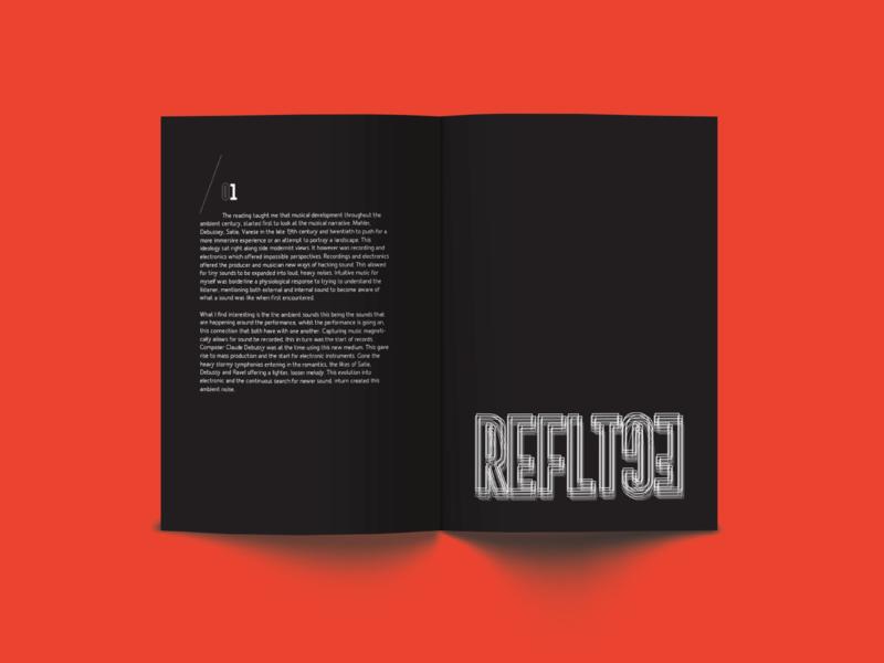 01-Reflect booklet design editorial editorial design mobile type lettering identity flat web typography logo branding brand icon graphic design clean minimal illustrator illustration design