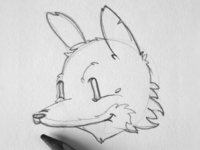 The quick brown fox sketch