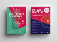 Tech Meets Food Pitch Battle Posters