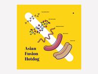 visual for hotdog recipe