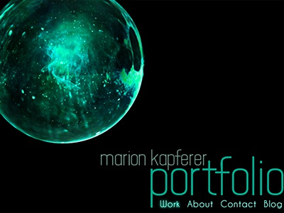 Website Header webdesign sphere portfolio