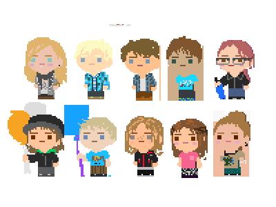 PixelME 2 characters game cute design pixel pixelart