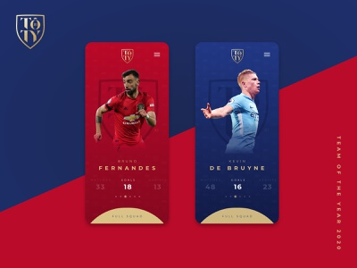 Team of the Year Concept Design montserrat sport goals blue red manchesterunited city manchester angular football digital clean ui concept ux design