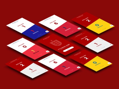 Remembering the Journey Tiles fifa threelions football itscominghome england concept studio motion invision ux design world cup