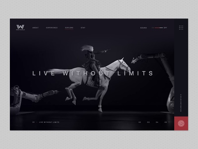 Westworld Revisited future technology digital website web design loop artificial intelligence after effects video transitions clean minimal concept movie westworld animation motion ui ux design