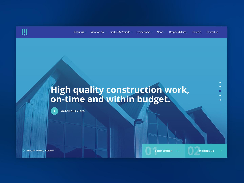 Construction & Engineering Design ux engineering clean digital website ui architechture building construction concept design