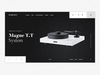 Bergmann visual website ui ux landingpage photography digital design audio player concept clean branding bergmann audio