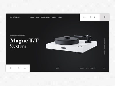 Bergmann visual website ui ux landingpage photography digital design audio player concept clean branding bergmann audio