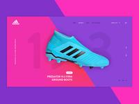 Adidas Predator predator vibrant colours branding boots adidas concept football website digital clean ui ux design