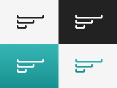 F Mark branding graphic design vector logo