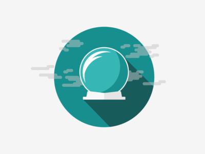 Crystal Ball illustration graphic design logo vector