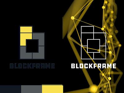 Blockframe Shot typography branding illustration graphic design logo vector