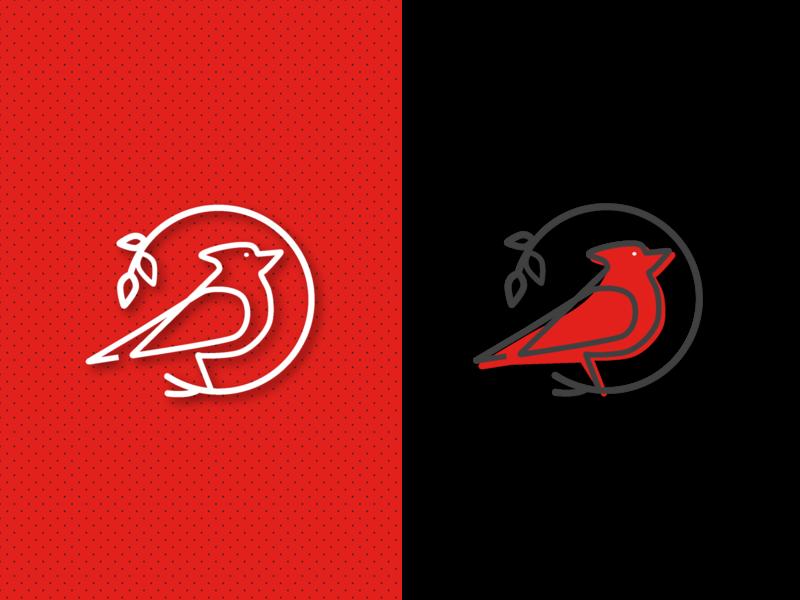 Cardinal Shot red bird icon branding illustration graphic design logo vector