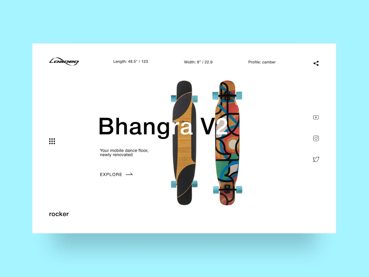 Longboard Promo-page Concept webdesign minimal main page landing page web ui design creativity