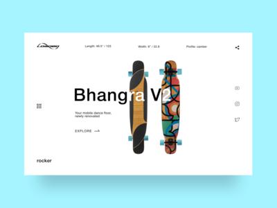 Longboard Promo-page Concept