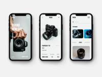 Cameras Shop UI Concept