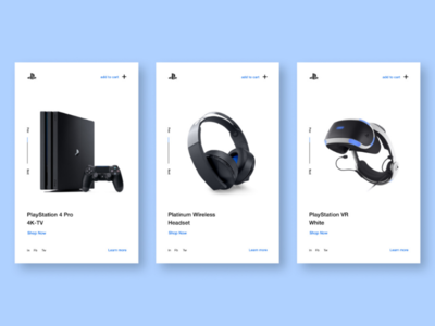 PlayStation Product cards