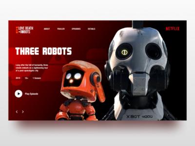 Love, Death & Robots Web-design concept
