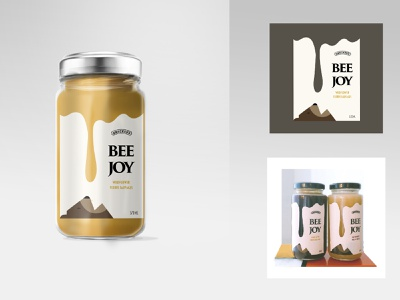 Honey Glass Jar Mockup vector packaging design brand design