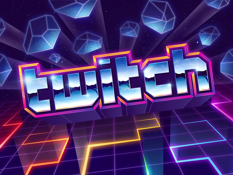 Twitch lunchbox signalnoise twitch photoshop illustrator outrun vaporwave synthwave retrowave 1980s retro illustration design art