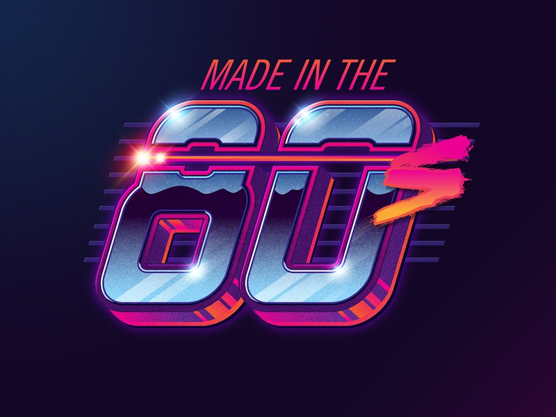 Made in the 80s signalnoise logo typography illustrator photoshop outrun vaporwave synthwave retrowave 1980s retro illustration design art