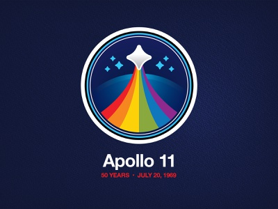 Apollo 11 signalnoise nasa branding vector illustrator logo illustration design art
