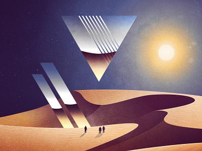 Epitaph signalnoise landscape science fiction photoshop illustrator outrun vaporwave synthwave retrowave 1980s retro illustration design art