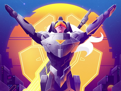 Praise the Sun signalnoise photoshop illustrator outrun vaporwave synthwave retrowave 1980s retro illustration design art