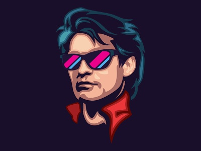 80s guy signalnoise illustrator outrun vaporwave synthwave retrowave 1980s retro illustration design art