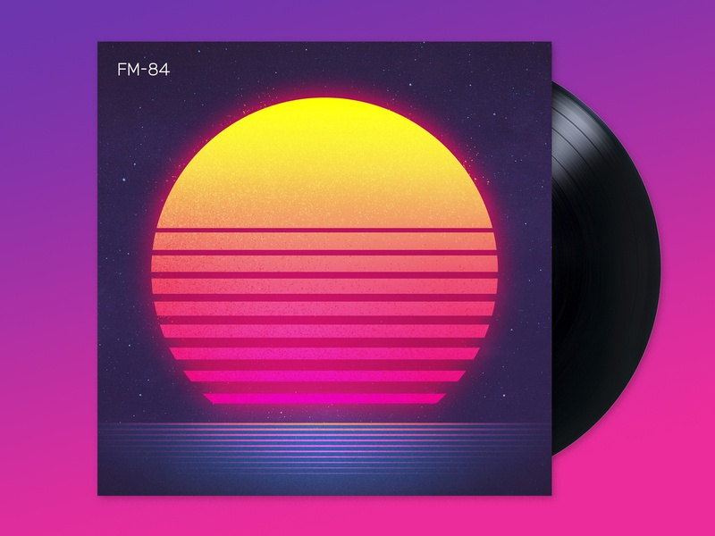 FM-84: Atlas signalnoise album art photoshop illustrator outrun vaporwave synthwave retrowave 1980s retro illustration design art