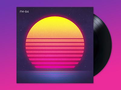 FM-84: Atlas signalnoise album art photoshop illustrator outrun vaporwave synthwave retrowave 1980s retro illustration design art