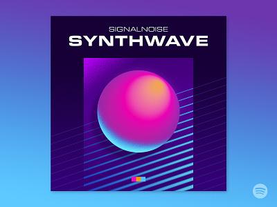 Signalnoise: Synthwave playlist signalnoise spotify playlist photoshop illustrator outrun vaporwave synthwave retrowave 1980s retro illustration design art