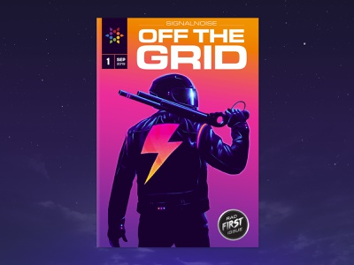 OFF THE GRID art zine publication zine signalnoise photoshop cc illustrator cc outrun photoshop illustrator 1980s retro illustration design art